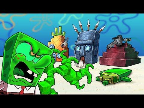 Minecraft | SPONGEBOB'S HOUSE STARTS THE PLAGUE! (Bacteria vs Bikini 'Bottom)