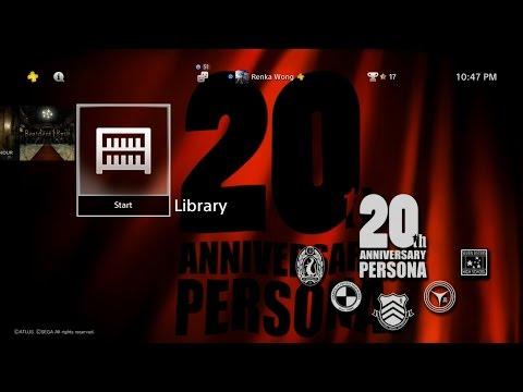 Persona 20th Anniversary Theme PS4
