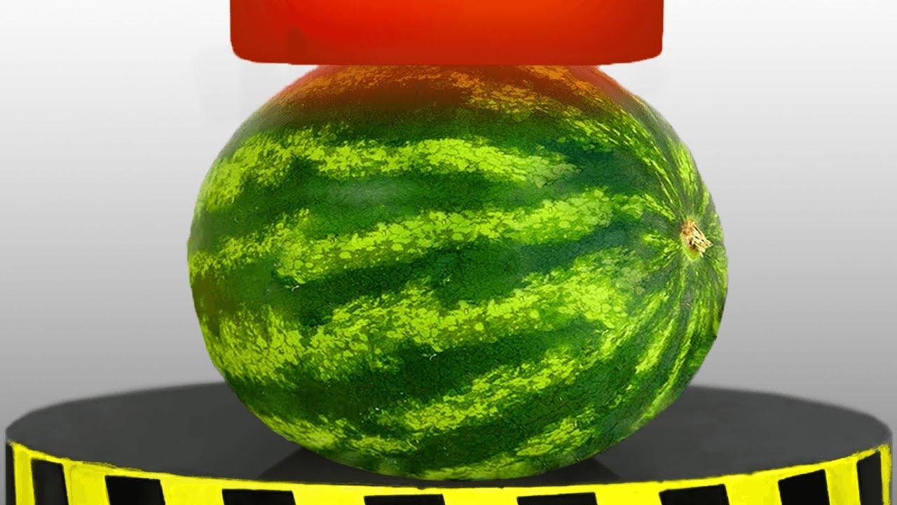 Watermelon Vs 1,000 Degree Hydraulic Press!