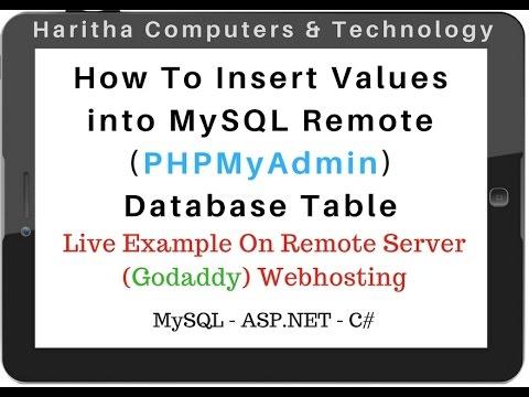 Insert Data Into MYSQL Table Remote Database (PHPMyAdmin 4.5.1) c#