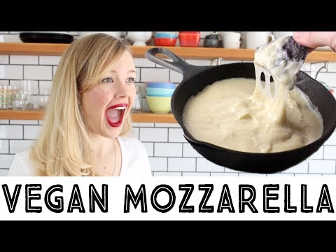 Best Vegan Mozzarella Cheese Recipe • Melty, Stretchy & Gooey