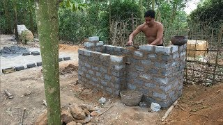 Primitive Technology:Tank from Brick-Part 2-Primitive life-wilderness