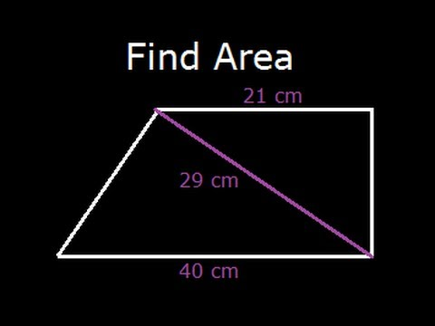 Trapezoid or Trapezium Area -two sides and diagonal is given (Difficulty - Medium)