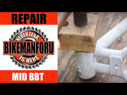 Mid Bottom Bracket Install - American BBT - BMX Or Cruiser - PT 3 - BikemanforU How-To