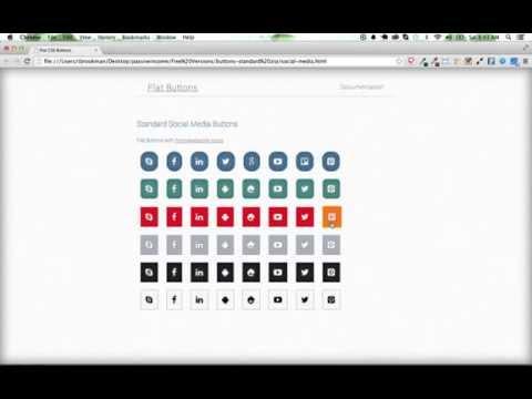 CSS Flat Buttons Demonstration