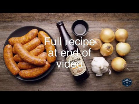 Beer Braised Sausages    Le Gourmet TV Recipes