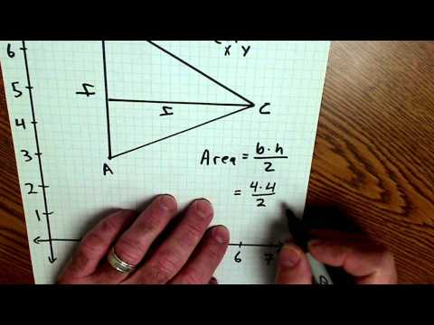 Geometry Coordinates and area of a triangle