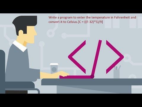 C Program to convert Fahrenheit into Celsius