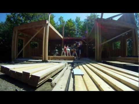 Framing Walls - 3rd Floor - 35 - My Garage Build HD Time Lapse