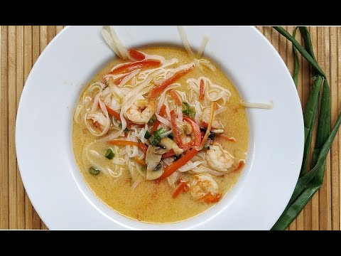 Thai Prawn Noodle Soup   How to make Soup @ Guru's Cooking