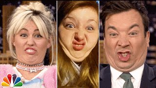 Jimmy and Miley try to recreate funny faces on the spot that kid viewers sent to The Tonight Show.  Subscribe NOW to The Tonight Show Starring Jimmy Fallon: http://bit.ly/1nwT1aN  Watch The Tonight Show Starring Jimmy Fallon Weeknights 11:35/10:35c Get more Jimmy Fallon:  Follow Jimmy: http://Twitter.com/JimmyFallon Like Jimmy: https://Facebook.com/JimmyFallon  Get more The Tonight Show Starring Jimmy Fallon:  Follow The Tonight Show: http://Twitter.com/FallonTonight Like The Tonight Show: https://Facebook.com/FallonTonight The Tonight Show Tumblr: http://fallontonight.tumblr.com/  Get more NBC:  NBC YouTube: http://bit.ly/1dM1qBH Like NBC: http://Facebook.com/NBC Follow NBC: http://Twitter.com/NBC NBC Tumblr: http://nbctv.tumblr.com/ NBC Google+: https://plus.google.com/+NBC/posts  The Tonight Show Starring Jimmy Fallon features hilarious highlights from the show including: comedy sketches, music parodies, celebrity interviews, ridiculous games, and, of course, Jimmy