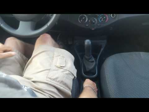 First steps to driving a stick shift manual car.