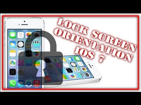 How To Lock Screen Orientation iOS 7/ iOS 8 - iPhone, iPad, iPod Touch
