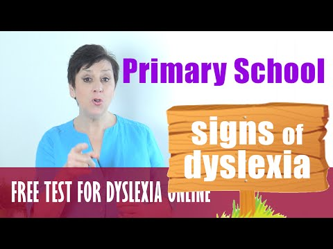 Signs of DYSLEXIA in Primary School Kids - FREE ONLINE TEST - Symptoms