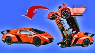 Lamborghini Transformer rc car 2.4 Ghz Radio Controller | Mainan mobil jadi robot remote kontrol