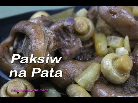 Paksiw na Pata with Pineapple and Mushrooms