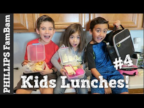 KIDS SCHOOL LUNCH IDEAS #4 | KIDS PACKING THEIR OWN LUNCHES | PHILLIPS FamBam Vlogs