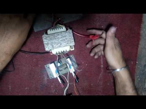 How to make 12volt dc to 220volt ac inverter (HINDI)