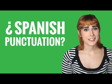 Spanish Ask a Teacher with Rosa - Spanish Punctuation?