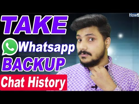 How to take Whasapp Data backup | Recover Whatsapp old Chat History Photos Videos 2018