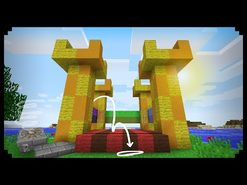 ✔ Minecraft: How to make a Working Bouncy Castle