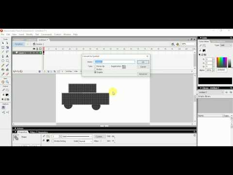 Moving Car animation with Flash 8