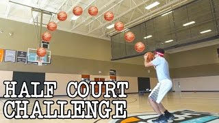 HALFCOURT BASKETBALL CHALLENGE!!