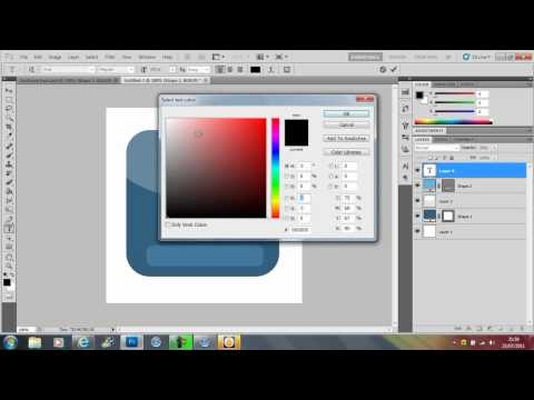 how to make the face book icon in photoshop cs5