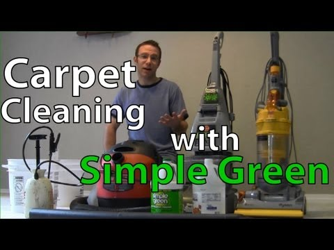 How to clean Carpets using Simple Green