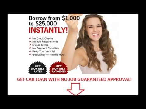 Get a Car Loan with No Job and Bad Credit - Auto Loan without Job