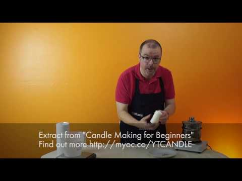 How to apply Waterslide Transfers to candles