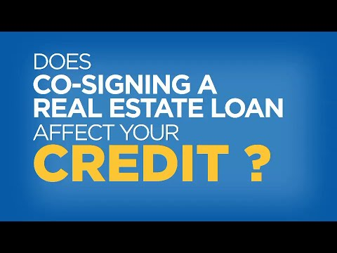 Does Cosigning a Real Estate Loan Affect Your Credit Score? - Credit in 60 Seconds