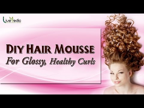 DIY: Hair Mousse For Glossy, Healthy Curls  Hair Care Tips by Live Vedic