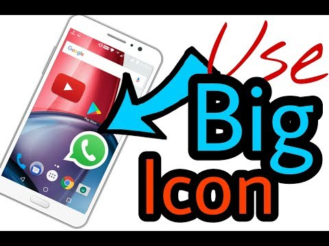 New Trick For Android 2017 ! big app icons | How To Enlarge Icons On Android