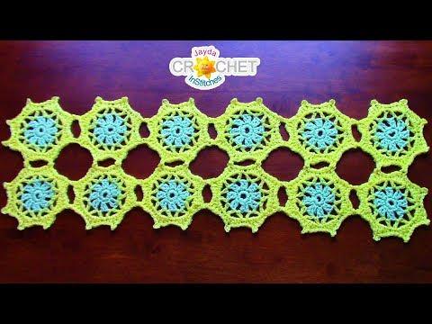 Spring Flower Table Runner & Doily Crochet Tutorial