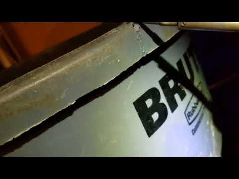 Cracked garbage pail PLASTIC WELDING repair