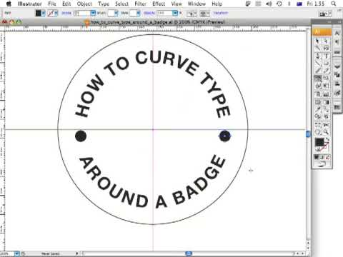 How to curve type around a badge using Adobe Illustrator CS3 - ArtworkExplained.com.au
