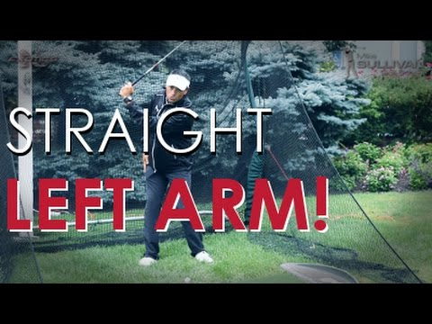 How to Keep Your Left Arm Straight in Your Golf Swing