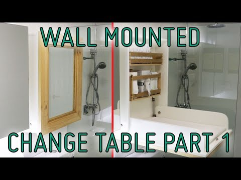 How I Built A Wall Mounted Change Table part 1