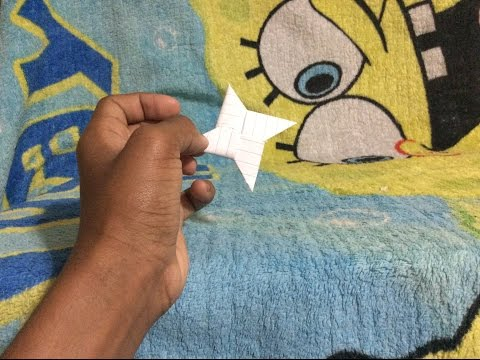 How to make a ninja star without tape or sciccors