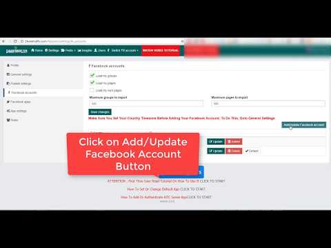Facebook Multi Group Poster - Add Facebook Account Via iPhone App (July 19 Update )