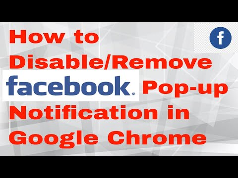 How to Disable/Remove Facebook Pop-up Notifications From Google Chrome Browser