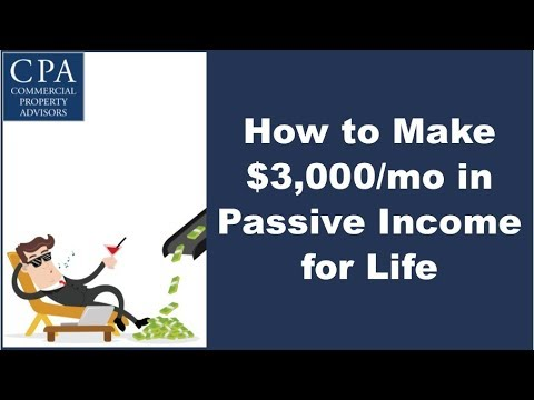 How to Make $3,000/mo Passive Income for Life