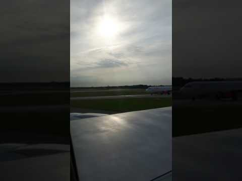 Thomson Boeing 767 take off from Manchester to Bourgas Bulgaria