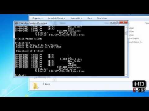 MS DOS Tutorials - Create Rename and Copy Folder - Part 3