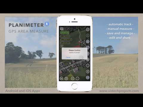 Planimeter - GPS Area Measure on iOS. Manage files. Save and Open measurements.