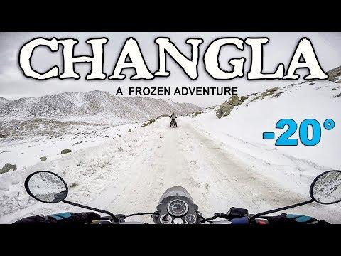 FROZEN CHANGLA PASS  ON BIKES  | Ride To Frozen Pangong Lake In Winters | EP-7 |