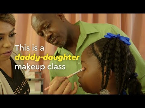 These Daddy-Daughter Makeup Classes Are Bringing Families Together