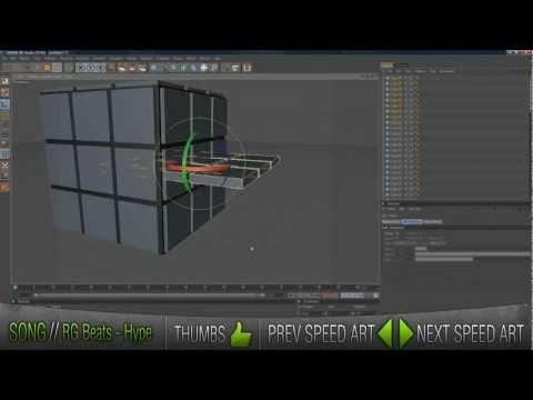 Rubiks Cube Speed Modeling - Cinema 4D