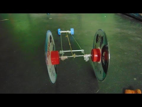 How  to make High Speed Rubber band Car with CD